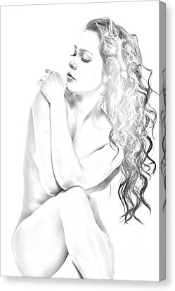 Nude Sketch Canvas Print