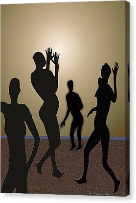 Nude Volleyball Canvas Print by Jerry Cooper