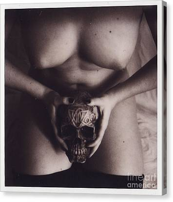 Nude With Skull  Canvas Print by Andrea S