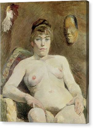 Nude Woman, 1884 Canvas Print by Henri de Toulouse-Lautrec
