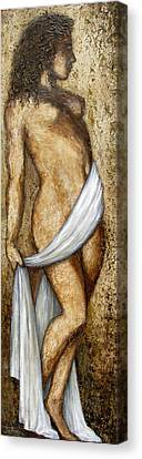 Nude Woman Standing Canvas Print by Judy Merrell