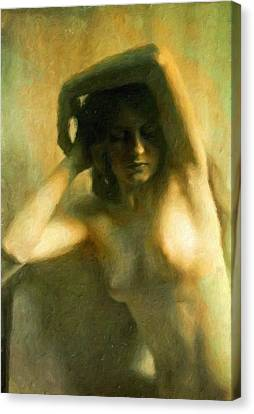 Nude Woman Canvas Print by Vincent Monozlay