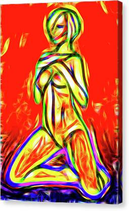 Luminous Body Canvas Print - Nude Xxix by Nick Arte