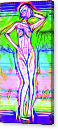 Luminous Body Canvas Print - Nude Xxx by Nick Arte