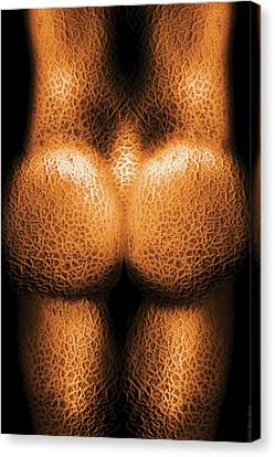Nudist - Just Cheeky Canvas Print by Mike Savad