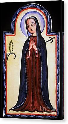 Nuestra Senora De Los Dolores - Our Lady Of Sorrows - Aosdd Canvas Print by Br Arturo Olivas OFS