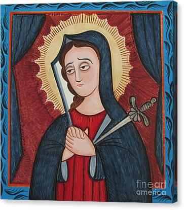 Nuestra Senora De Los Dolores - Our Lady Of Sorrows - Aosor Canvas Print by Br Arturo Olivas OFS