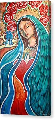 Our Lady Of Guadalupe Canvas Print - Nuestra Senora Maestosa by Shiloh Sophia McCloud