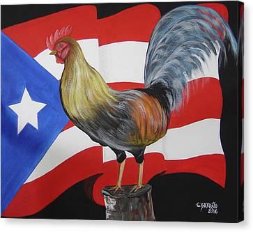 Nuestro Orgullo  Meaning Our Pride Canvas Print by Gloria E Barreto-Rodriguez