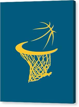 Nuggets Basketball Hoop Canvas Print