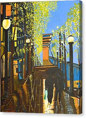 Nuit De Pluie Canvas Print