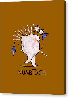 Numb Tooth T-shirt Canvas Print by Anthony Falbo