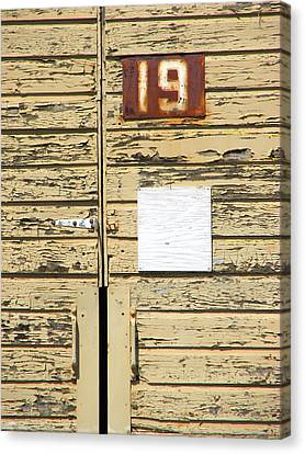 Number 19 Canvas Print