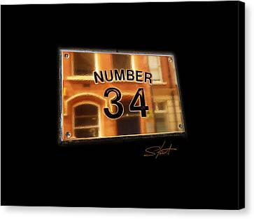 Number 34 Canvas Print by Charles Stuart