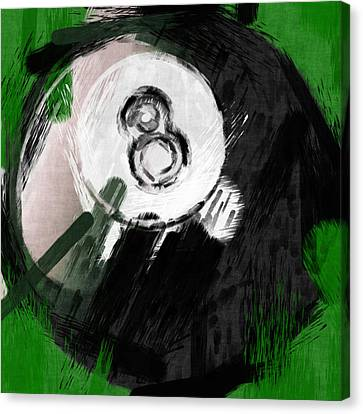 Number Eight Billiards Ball Abstract Canvas Print by David G Paul