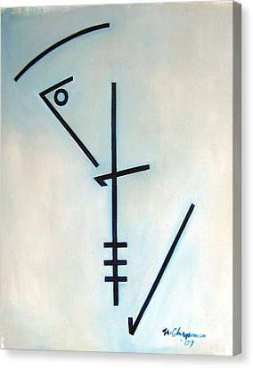 Canvas Print - Number Five Blue Monk by Martel Chapman