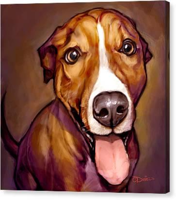 Pet Canvas Print - Number One Fan by Sean ODaniels