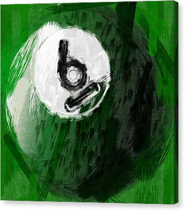 Number Six Billiards Ball Abstract Canvas Print by David G Paul
