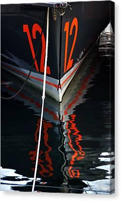 Number12 Canvas Print by Karo Evans