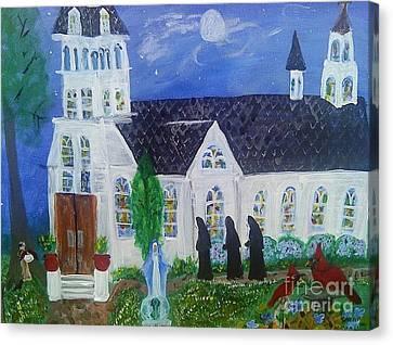 Nuns Going To Mass Canvas Print by Seaux-N-Seau Soileau