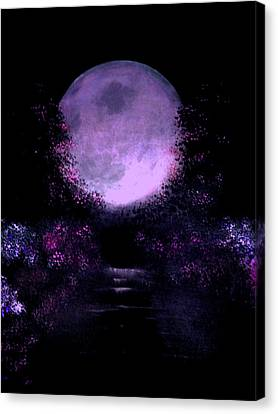 Silver Moonlight Canvas Print - Nuptial Moon by Rolly Mouchaty