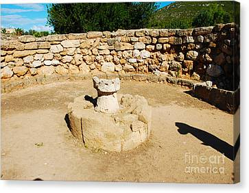 Nuraghe Palmavera - The Meeting Hut - Sardinia Italy Canvas Print by Just Eclectic