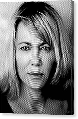 Nuria Hosta Ink Portrait Canvas Print by Quim Abella