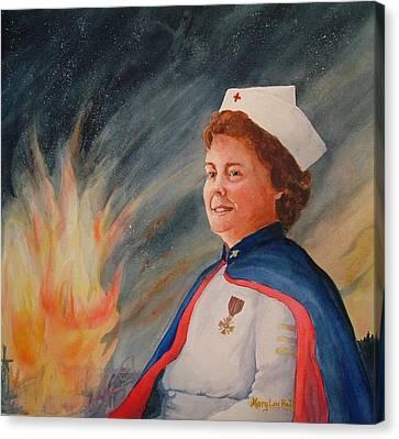 Nurse Arvin Canvas Print by Mary Lou Hall