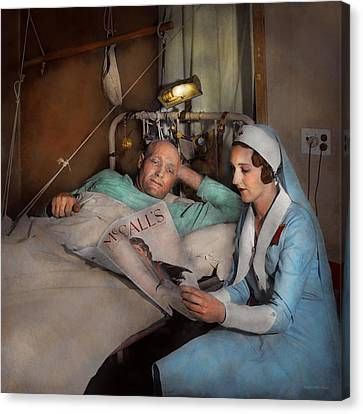 Nurse - Comforting Thoughts 1933 Canvas Print by Mike Savad