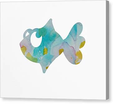 Nursery Fish Print Canvas Print by Nursery Art