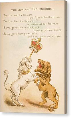 Nursery Rhyme And Illustration Of The Canvas Print by Vintage Design Pics