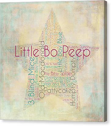 Nursery Rhymes Star Canvas Print by Brandi Fitzgerald