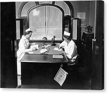 Nurses Doing Paperwork Canvas Print