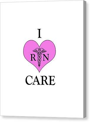 Nursing I Care -  Pink Canvas Print by Mark Kiver