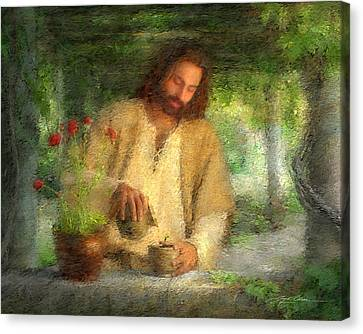 Nurtured By The Word Canvas Print by Greg Olsen