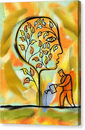 Medium Group Of People Canvas Print - Nurturing And Caring by Leon Zernitsky