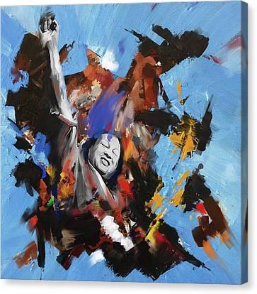 Nusrat Fateh Ali Khan 188 I Canvas Print by Mawra Tahreem