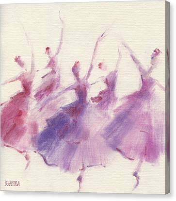 Nutcracker Ballet Waltz Of The Flowers Canvas Print by Beverly Brown