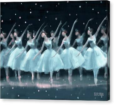 Nutcracker Ballet Waltz Of The Snowflakes Canvas Print by Beverly Brown