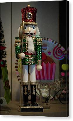 Nutcracker Christmas Deco Canvas Print by Michael Flood