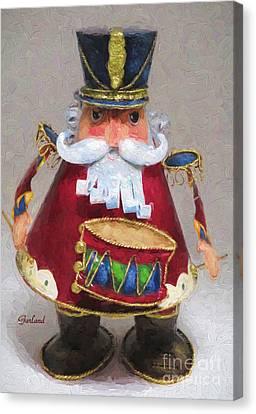 Christmas Canvas Print - Nutcracker Drummer.  by Garland Johnson