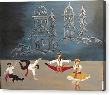 Nutcrackers Dance Of Russian Cossacks Canvas Print