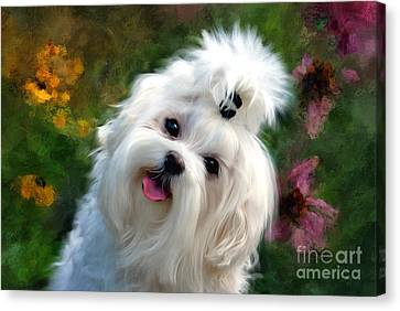 Nuttin But Love Painterly Canvas Print by Lois Bryan