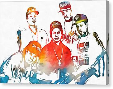 Nwa Color Tribute Canvas Print by Dan Sproul