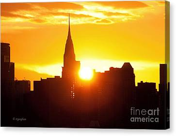 Ny Chrysler Building Sunrise Canvas Print by Regina Geoghan