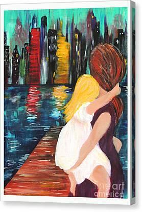 Debbie Hall Canvas Print - Ny City by Debbie Hall
