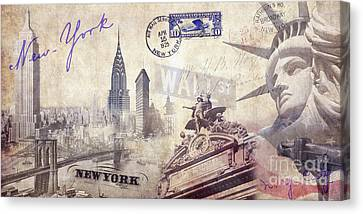 Ny City Canvas Print by Jon Neidert