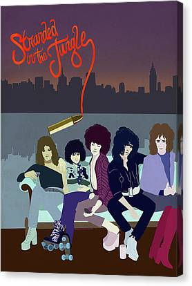 Ny Dolls Canvas Print by Nelson Garcia