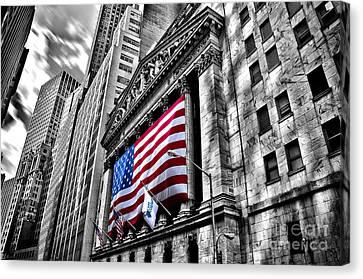 Ny Stock Exchange Canvas Print by Alessandro Giorgi Art Photography