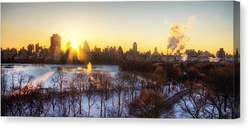 Ny Winter Panaroma Canvas Print by Ariane Moshayedi